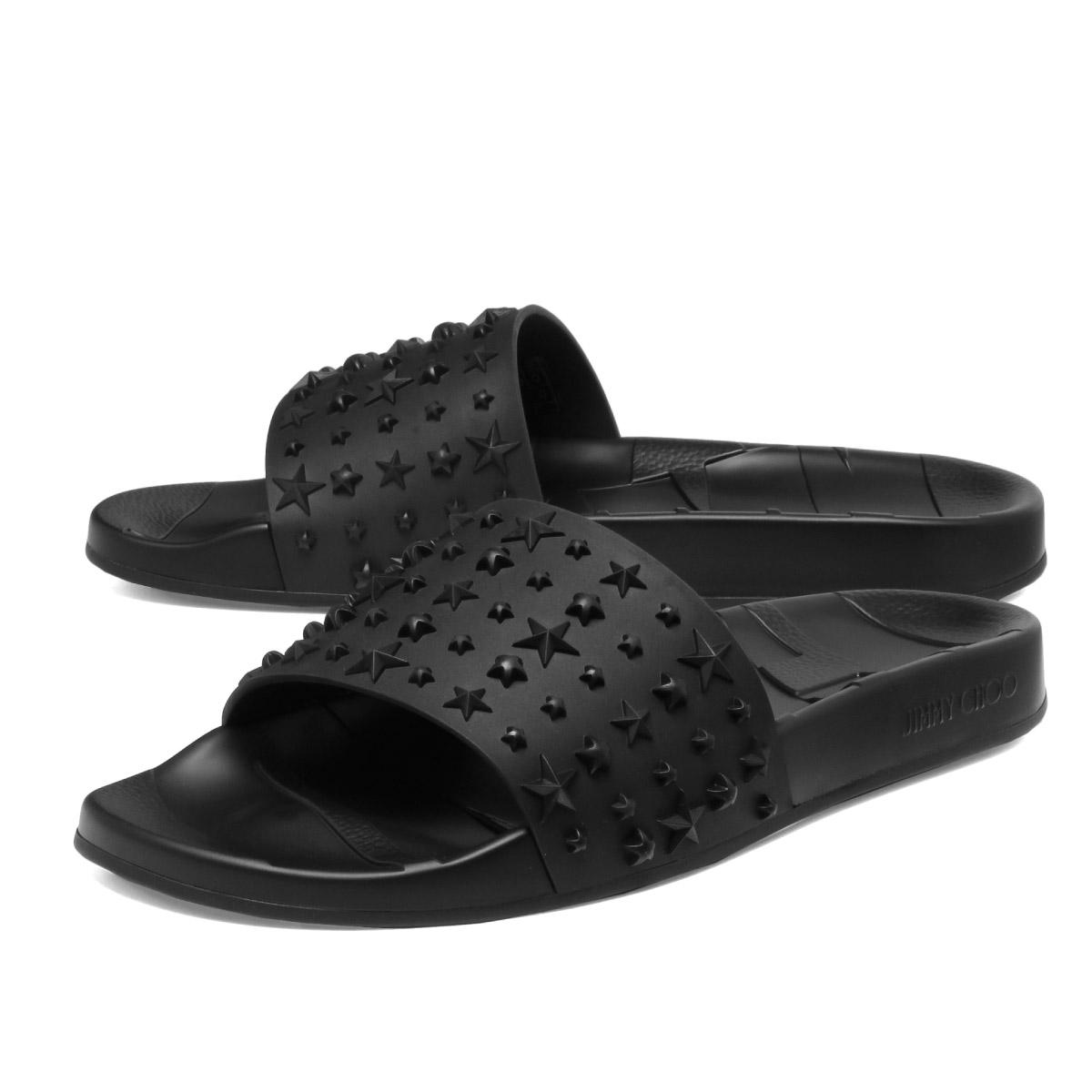3d1035538c81 ジミーチュウ JIMMY CHOO shoes men REY M ERU sandals REY lei BLACK BLACK black