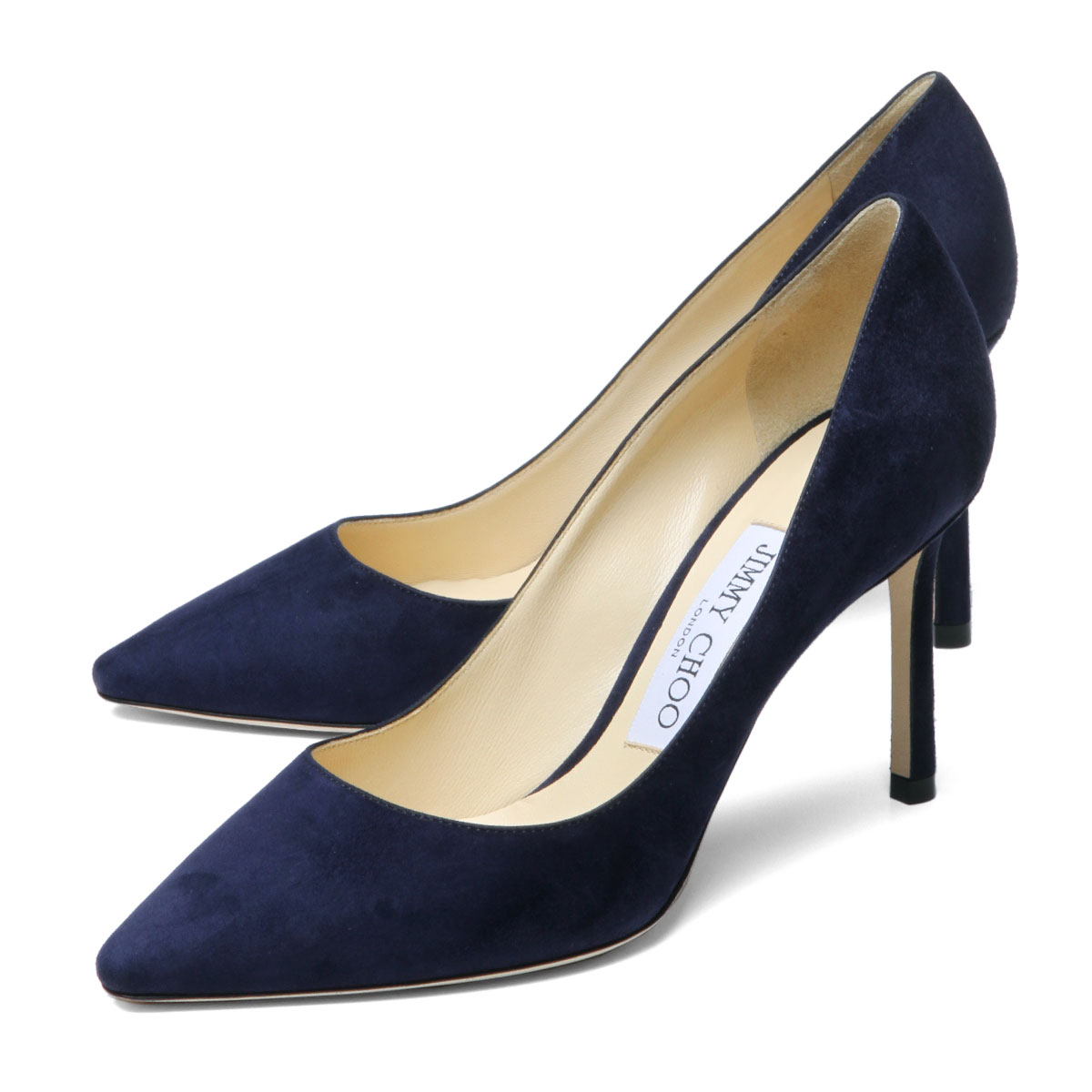authentic quality on wholesale a few days away ジミーチュウ JIMMY CHOO shoes Lady's ROMY 85 SUE pointed toe pumps ROMY Romi NAVY  dark blue