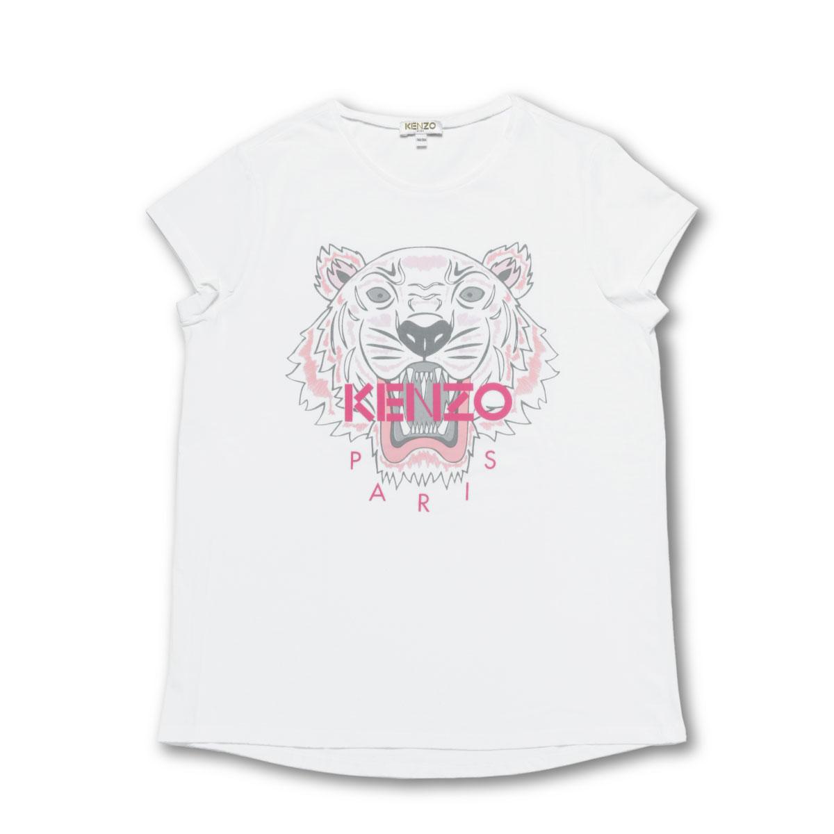 ケンゾー KENZO Tシャツ キッズ ガールズ KN10168 01P 半袖Tシャツ OPTIC WHITE ホワイト 14A