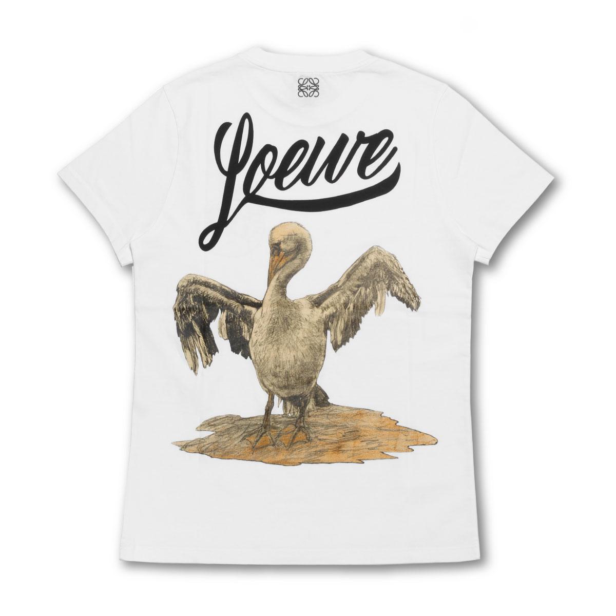 ロエベ LOEWE Tシャツ レディース S6199720CR 2100 半袖Tシャツ BIRD バード WHITE ホワイト