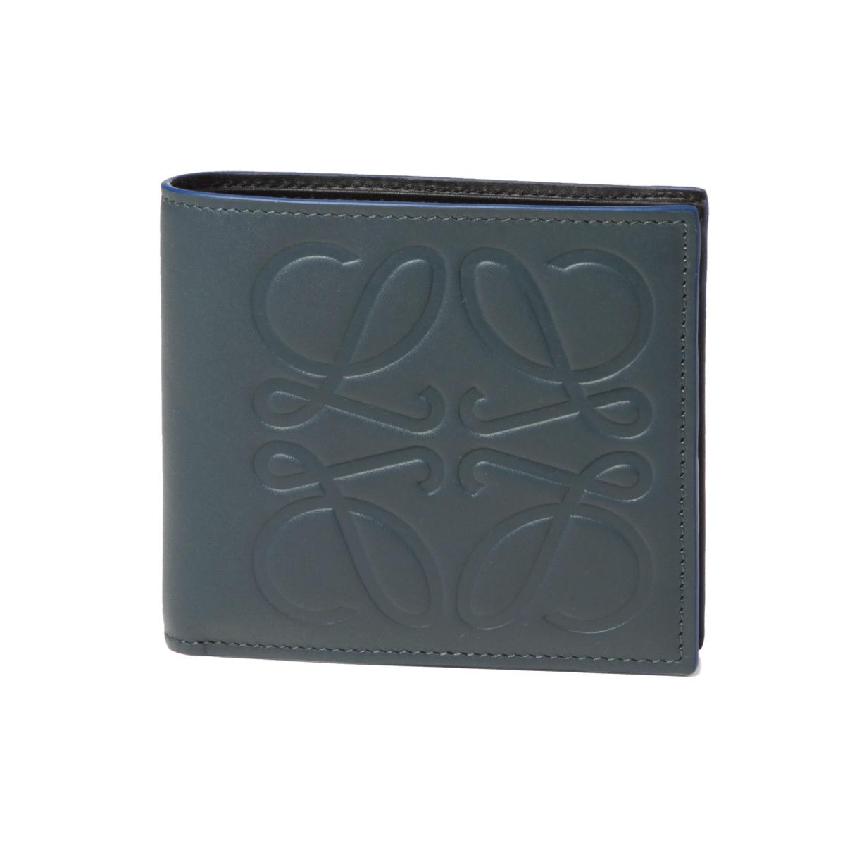 ロエベ LOEWE 財布 メンズ 106 54A501 2090 6490 二つ折り財布 STEEL BLUE ダークブルー
