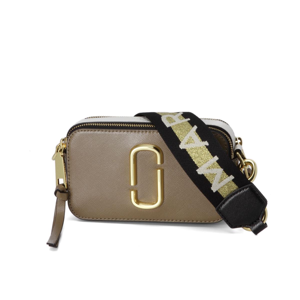 Mark Jacobs Marc Bag Lady M0014146 064 Shoulder Snapshot French Grey Multi Brown