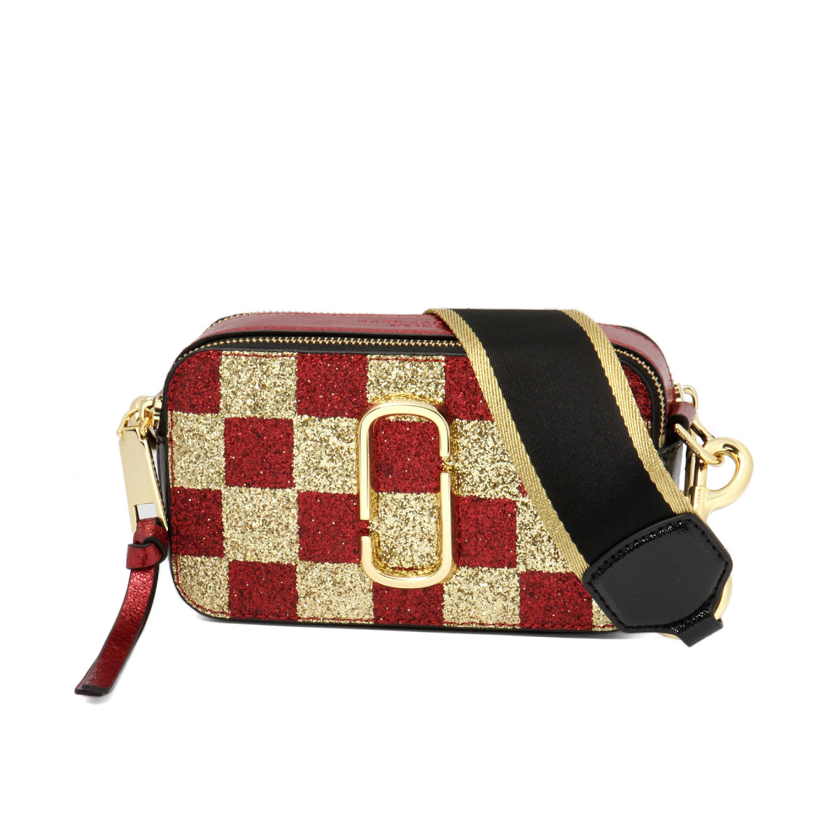 Mark Jacobs Marc Bag Lady M0014548 765 Shoulder Snapshot Checkerboard Gold Multi Red