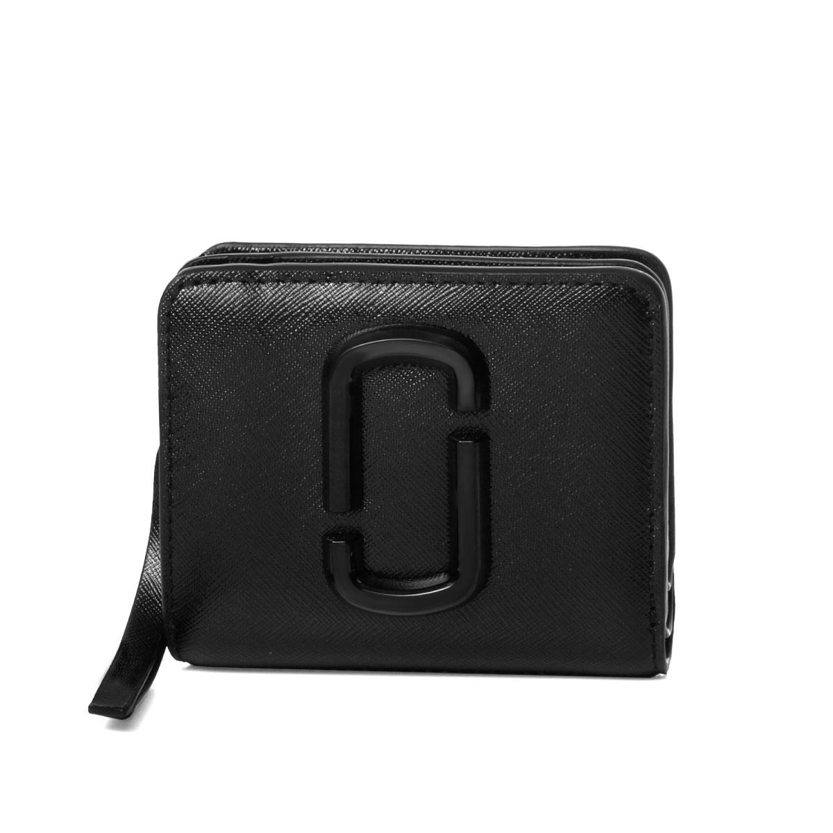 マーク ジェイコブス MARC JACOBS 財布 レディース M0014986 001 二つ折り財布 ミニ SNAPSHOT DTM スナップショット ディーティーエム BLACK ブラック