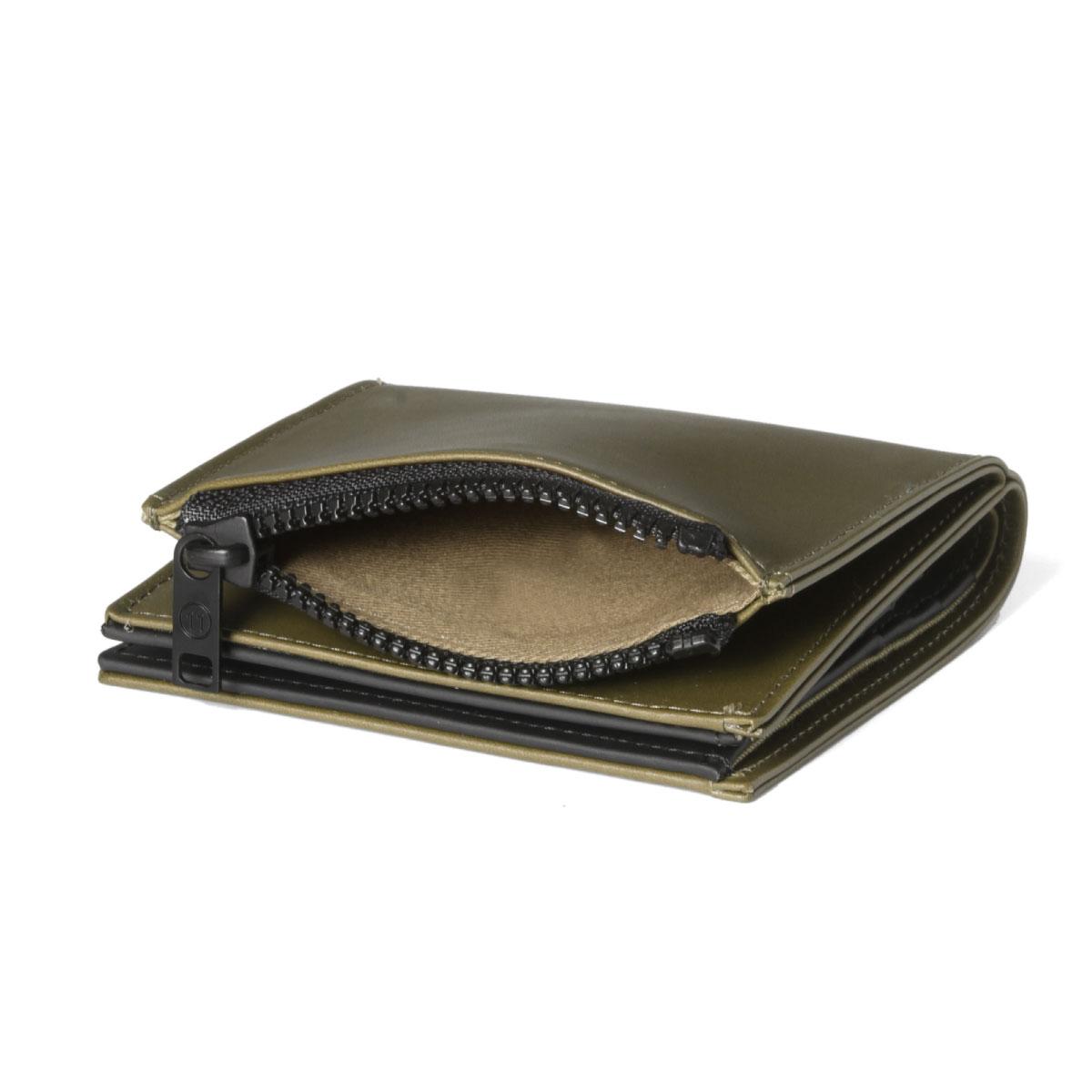 796d9b6c メゾンマルジェラ MAISON MARGIELA wallet men S35UI0438 PS935 T7429 line 11 folio  wallet KHAKI/BLACK green