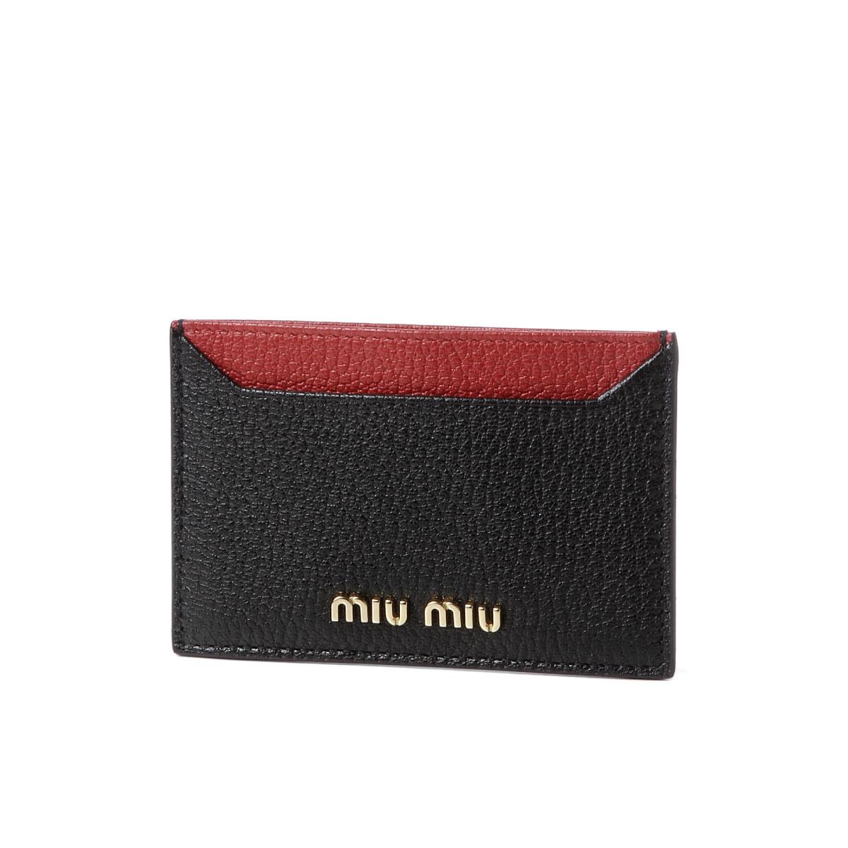 ミュウ ミュウ MIU MIU カードケース レディース 5MC208 2BJI F0LJ4 MADRAS COLOUR B NERO/FUOCO ブラック