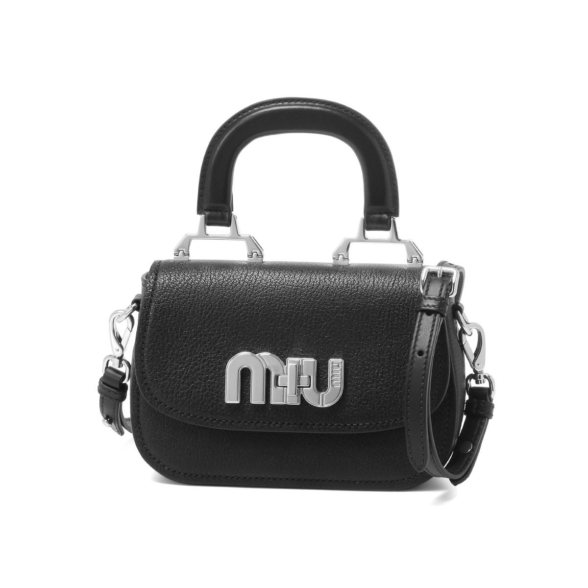 ミュウ ミュウ MIU MIU バッグ レディース 5BD085 2AJB F0002 ショルダー付 ハンドバッグ NERO ブラック