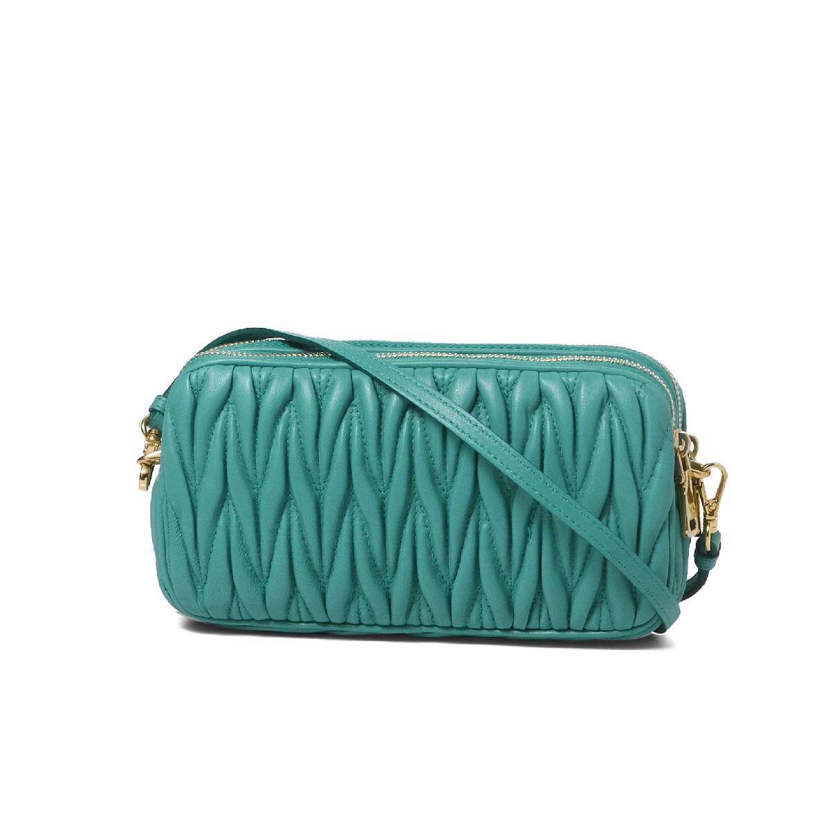 ミュウミュウ MIU MIU bag lady 5ZH011 N88 F0194 shoulder clutch bag MATELASSE  GIADA Green belonging to 6a8d5ca8a3514