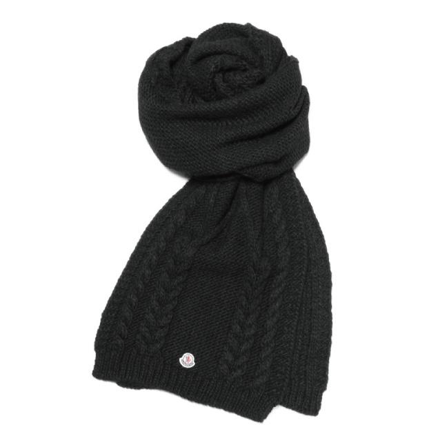 importshopdouble  MONCLER MONCLER scarf BLACK black  bb720155cc7