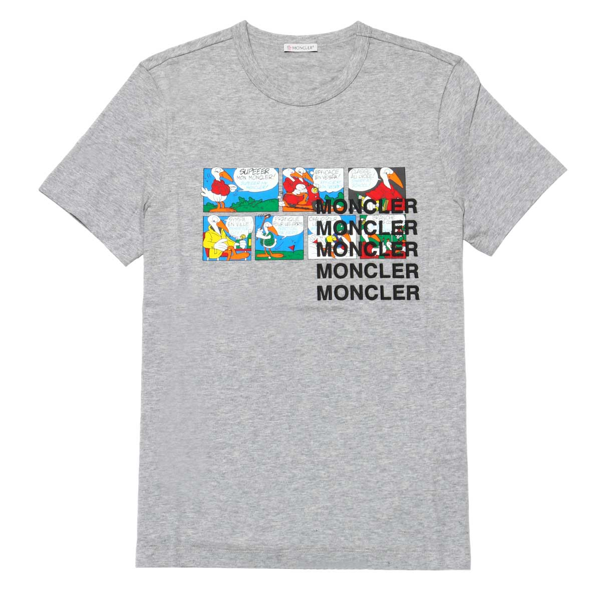 Monk rail MONCLER T-shirt men 8022550 82565 984 short-sleeved T-shirt GREY gray