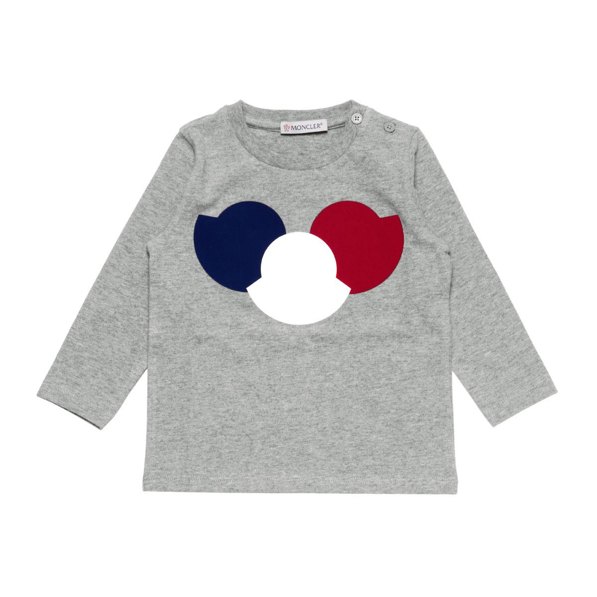 モンクレール MONCLER Tシャツ ベビー ボーイズ 8017250 87275 986 長袖Tシャツ GREY グレー 9M-24M