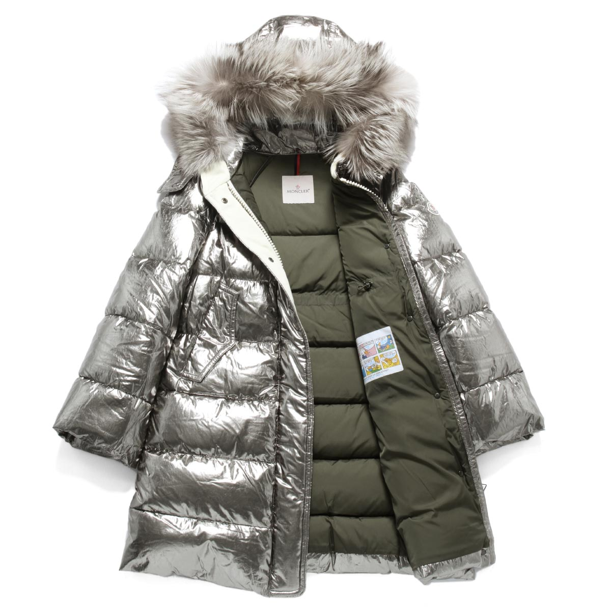 moncler jacket silver