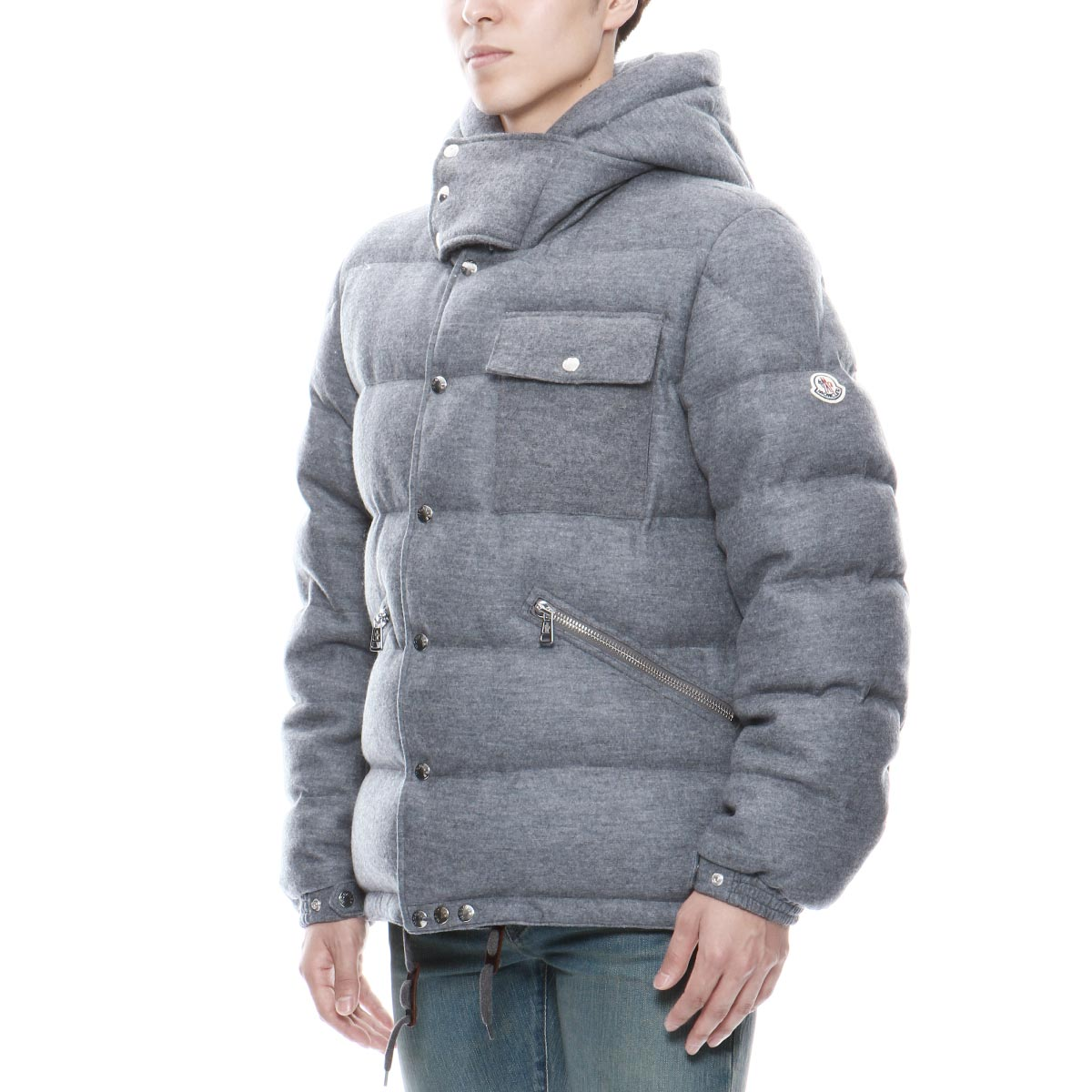 Down jacket LIORAN Rio orchid GREY gray with Monk rail MONCLER outer men LIORAN 549H6 915 food