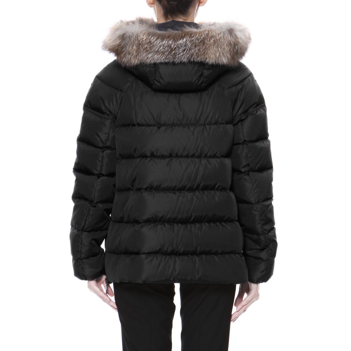 Down jacket CHITALPA チタルパ BLACK black with Monk rail MONCLER outer Lady's CHITALPA 54155 999 fur & food & belt