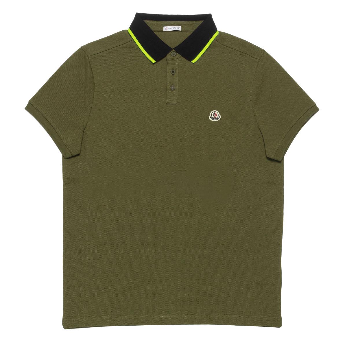 モンクレール MONCLER ポロシャツ メンズ 8304100 84556 829 半袖ポロシャツ KHAKI グリーン