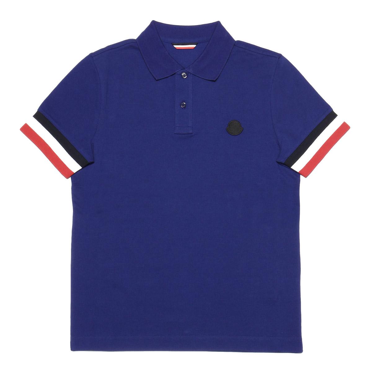 モンクレール MONCLER ポロシャツ メンズ 8318400 84556 76A 半袖ポロシャツ BLUE ブルー