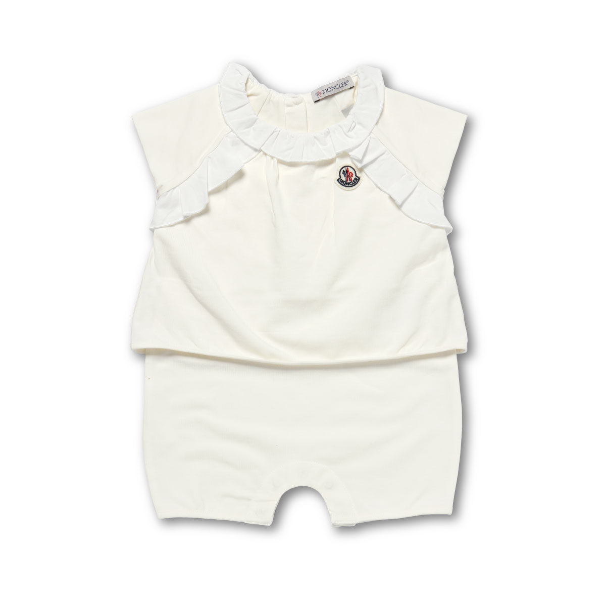 8571505 Monk rail MONCLER rompers baby girls 8,790A 034 no sleeve rompers WHITE white 3M-18M
