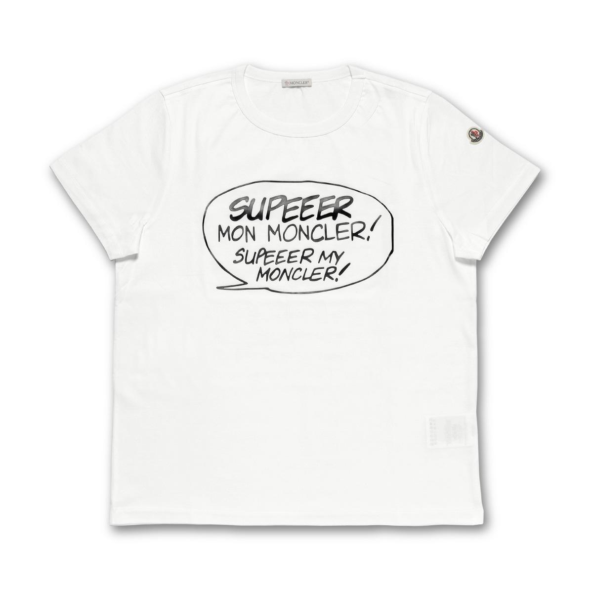 モンクレール MONCLER Tシャツ レディース 8085150 8390X 001 半袖Tシャツ WHITE ホワイト