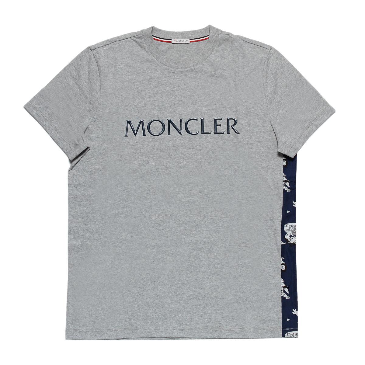 モンクレール MONCLER Tシャツ メンズ 8026250 8390T 984 半袖Tシャツ GREY グレー