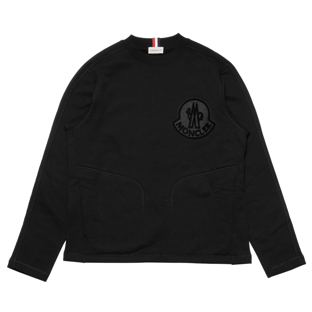 22cf0fd00f74 8035300 Monk rail MONCLER sweat shirt men 80451 999 long sleeves sweat  shirt BLACK black