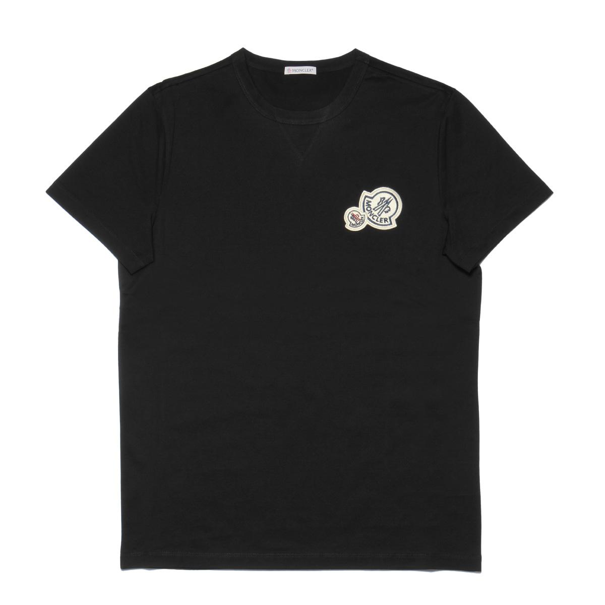 モンクレール MONCLER Tシャツ メンズ 8032500 8390Y 999 半袖Tシャツ BLACK ブラック