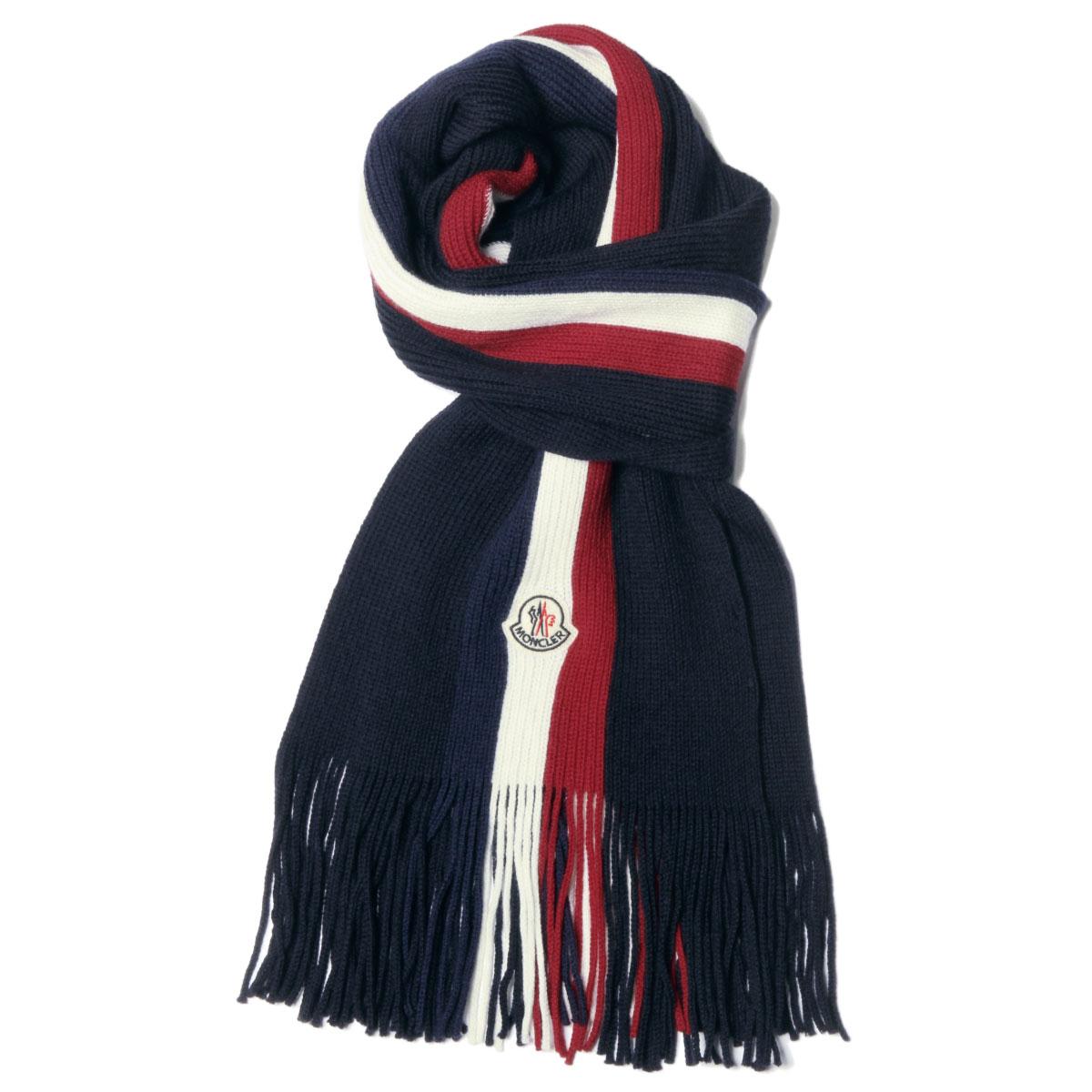 importshopdouble  0002600 Monk rail MONCLER scarf men 02292 742 NAVY ... eeb98c5a7a3