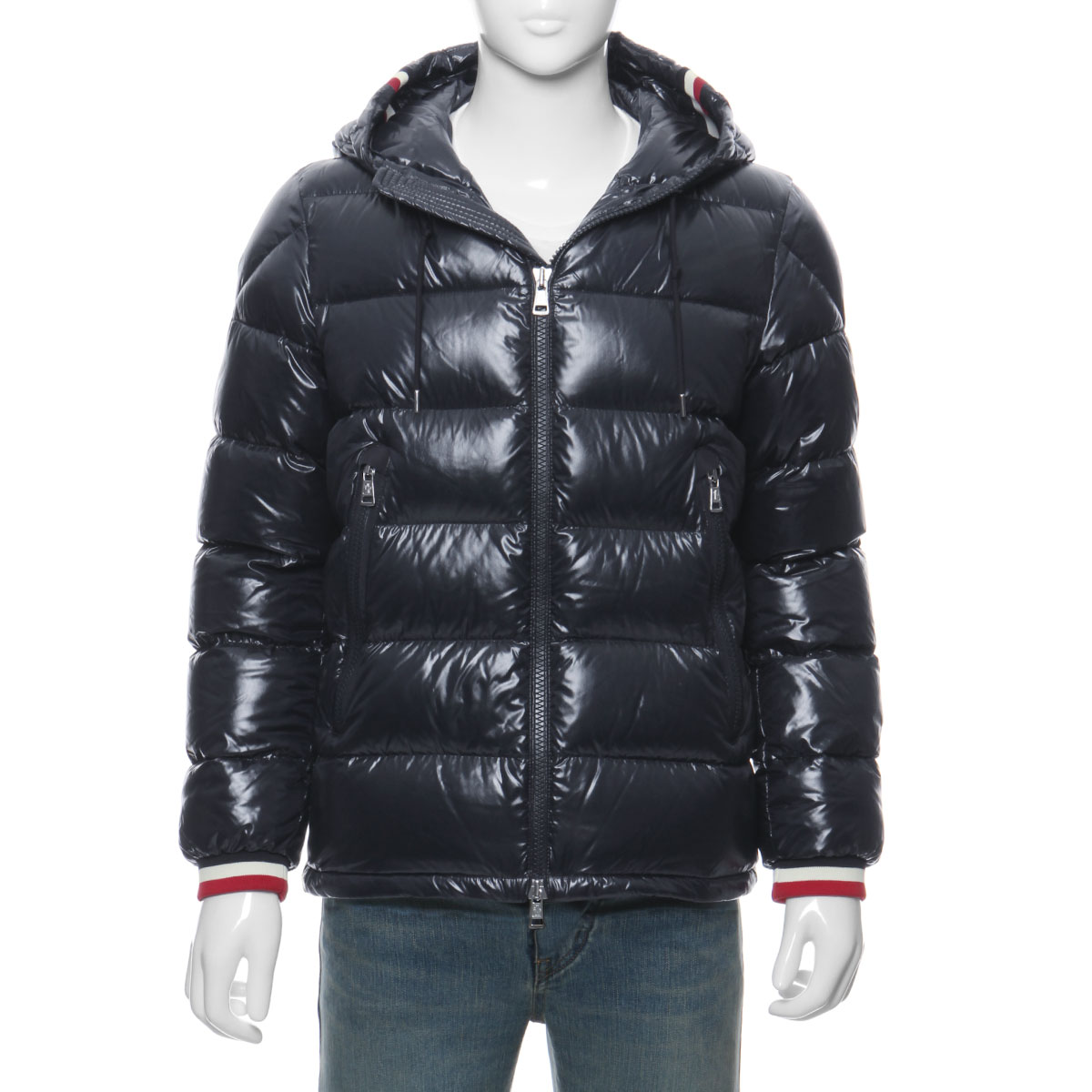 a7dadf4ba Down jacket ALBERIC Al Berwick NAVY dark blue with Monk rail MONCLER outer  men ALBERIC 68950 742 food