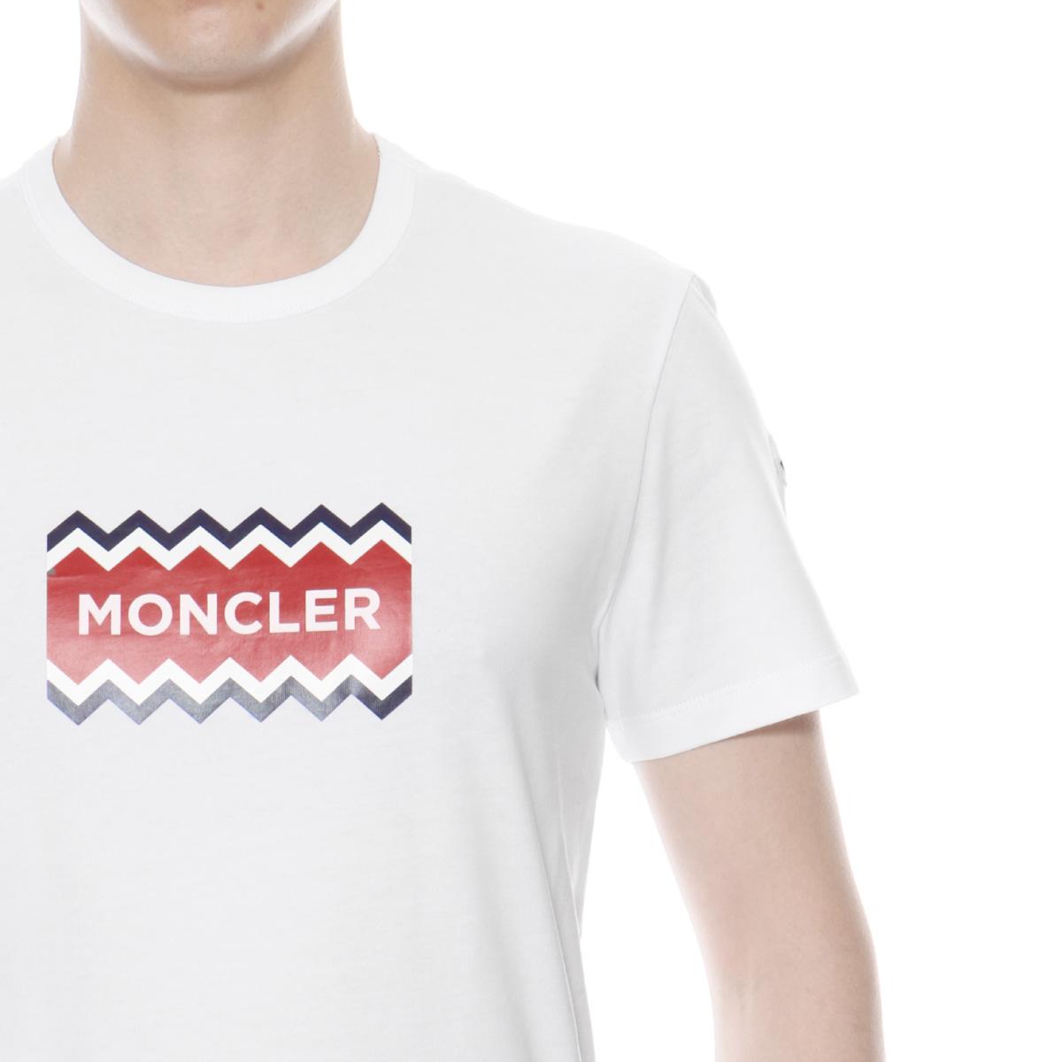 5cedb4c6f 8037250 Monk rail MONCLER T-shirt men 8390T 001 short sleeves T-shirt WHITE  white