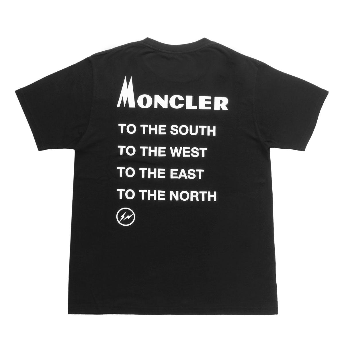 モンクレール MONCLER Tシャツ メンズ 8039850 8391Q 999 半袖Tシャツ BLACK ブラック