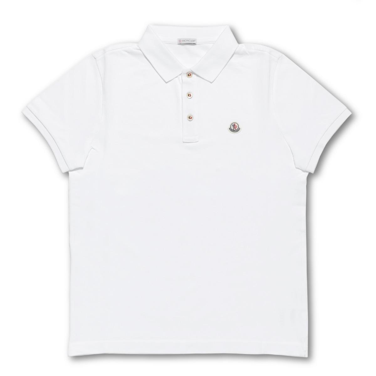 e2b42d6cb21e53 importshopdouble: Monk rail MONCLER polo shirt men 8340800 84556 001  short-sleeved polo shirt WHITE white | Rakuten Global Market