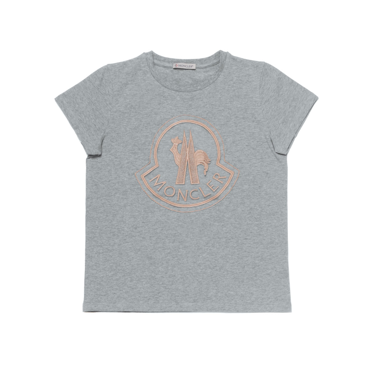 モンクレール MONCLER Tシャツ キッズ ガールズ 8069505 8790A 980 半袖Tシャツ GREY グレー 10A