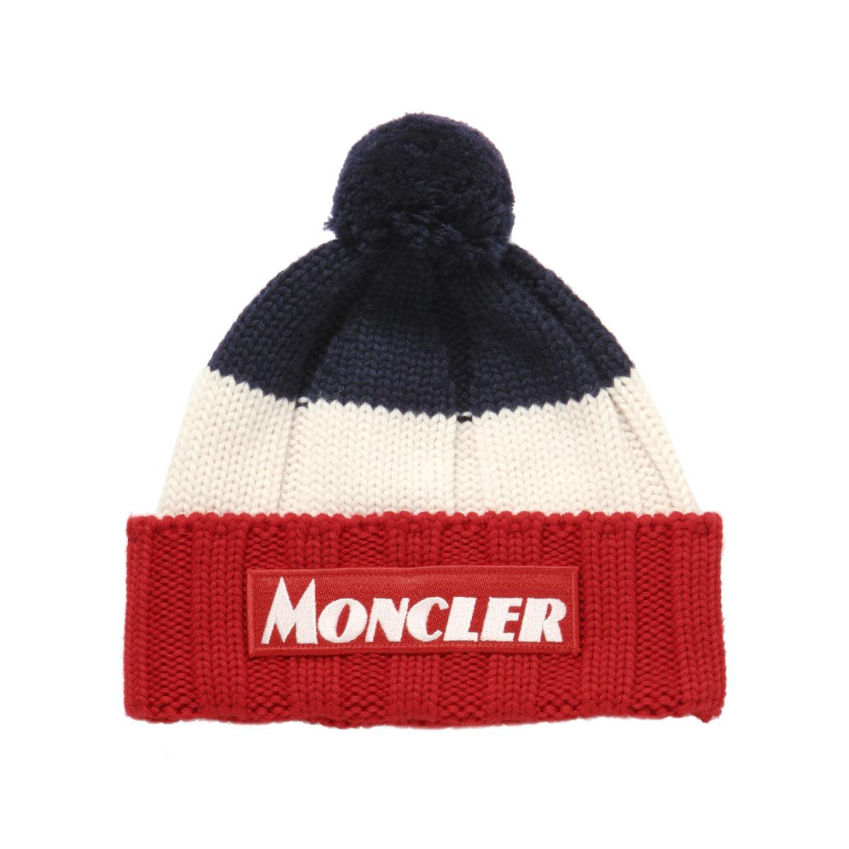 モンクレール MONCLER ニットキャップ キッズ ボーイズ 9922600 A9156 778 NAVY マルチカラー