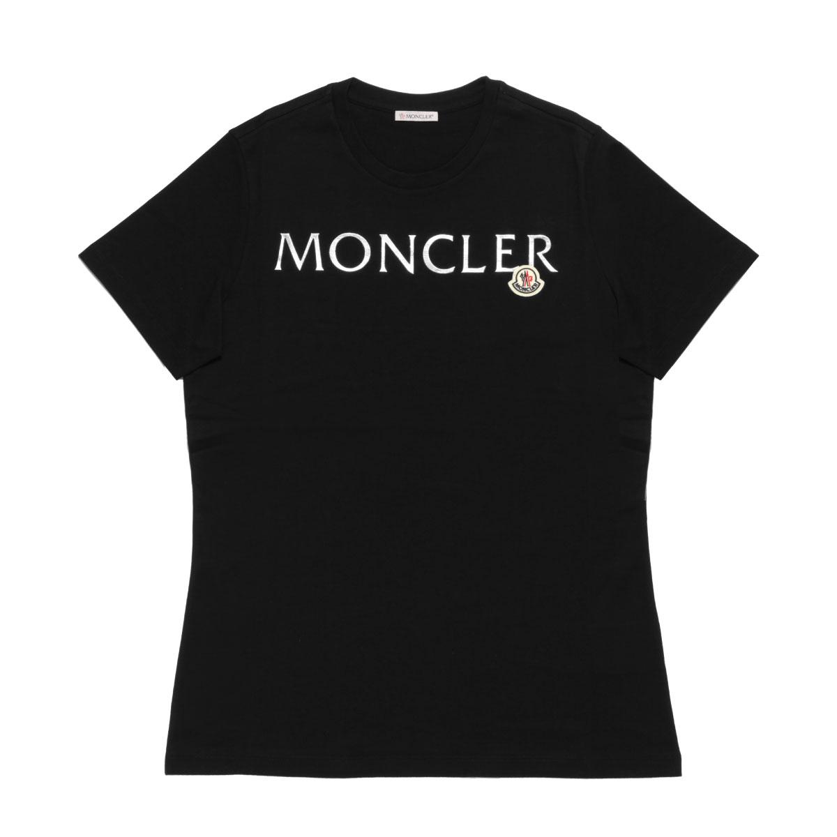 モンクレール MONCLER Tシャツ レディース 8C71510 V8094 999 半袖Tシャツ BLACK ブラック