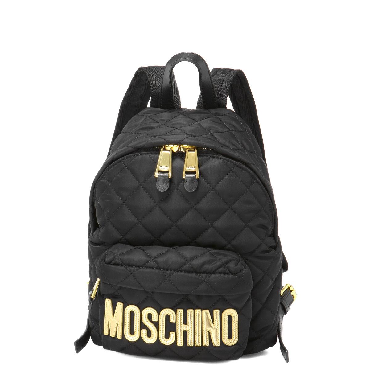 モスキーノ MOSCHINO バッグ レディース B7608 8201 2555 バックパック BLACK ブラック