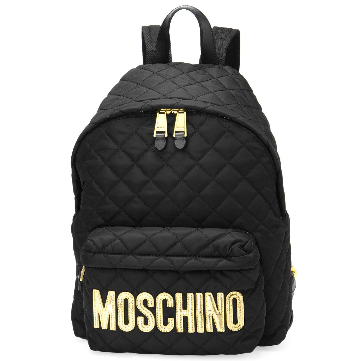 elegant shape terrific value select for latest Moschino MOSCHINO bag lady B7607 8201 2555 backpack BLACK black