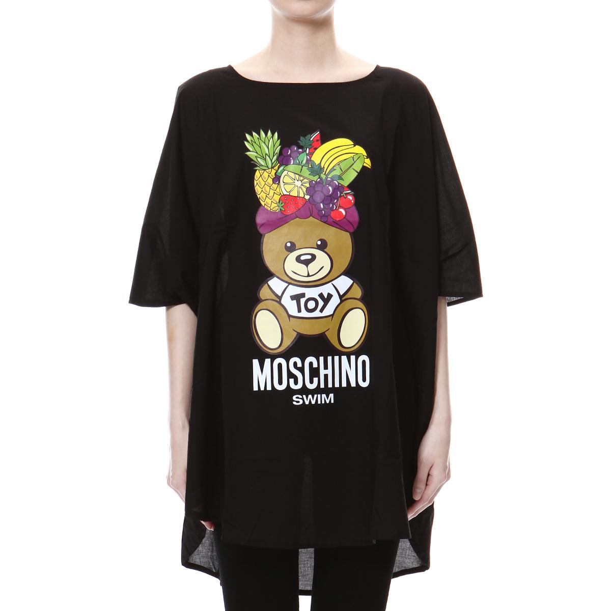 モスキーノ MOSCHINO Tシャツ レディース 3909 2114 0555 半袖Tシャツ BLACK ブラック