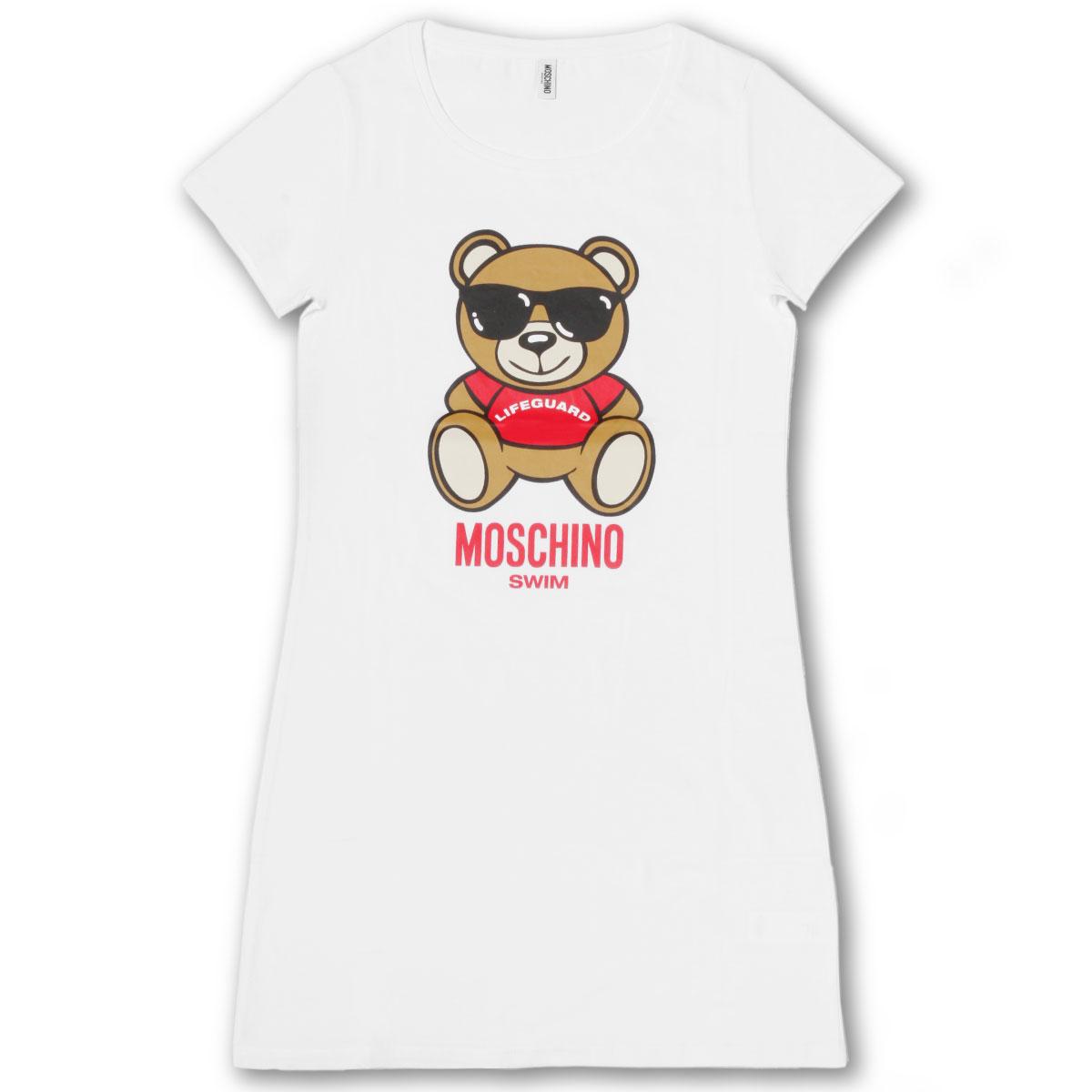 モスキーノ MOSCHINO ワンピース Tシャツ レディース 3911 2104 0001 半袖ワンピース WHITE ホワイト