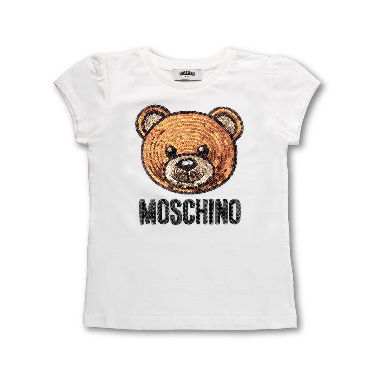 モスキーノ MOSCHINO Tシャツ キッズ ガールズ HGM021 LAA08 10063 半袖Tシャツ WHITE ホワイト6A-10A