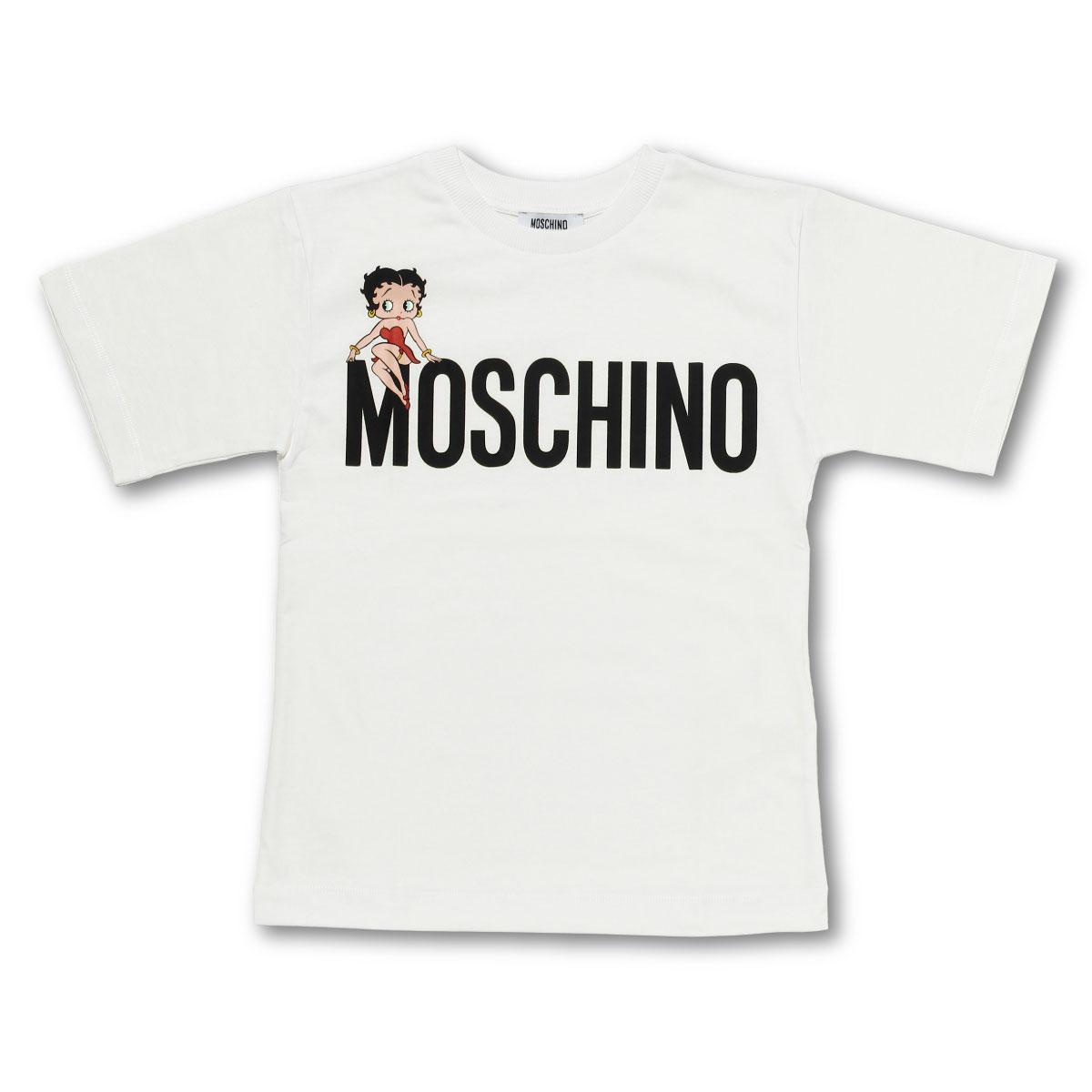 モスキーノ MOSCHINO Tシャツ キッズ ガールズ HKM022 LAA02 10063 半袖Tシャツ WHITE ホワイト6A-10A