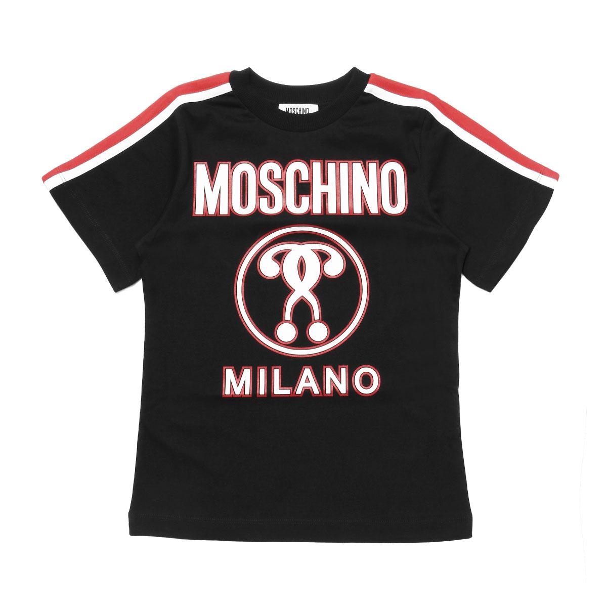 モスキーノ MOSCHINO Tシャツ キッズ ボーイズ HUM01S LAA09 60100 半袖Tシャツ BLACK ブラック6A-10A