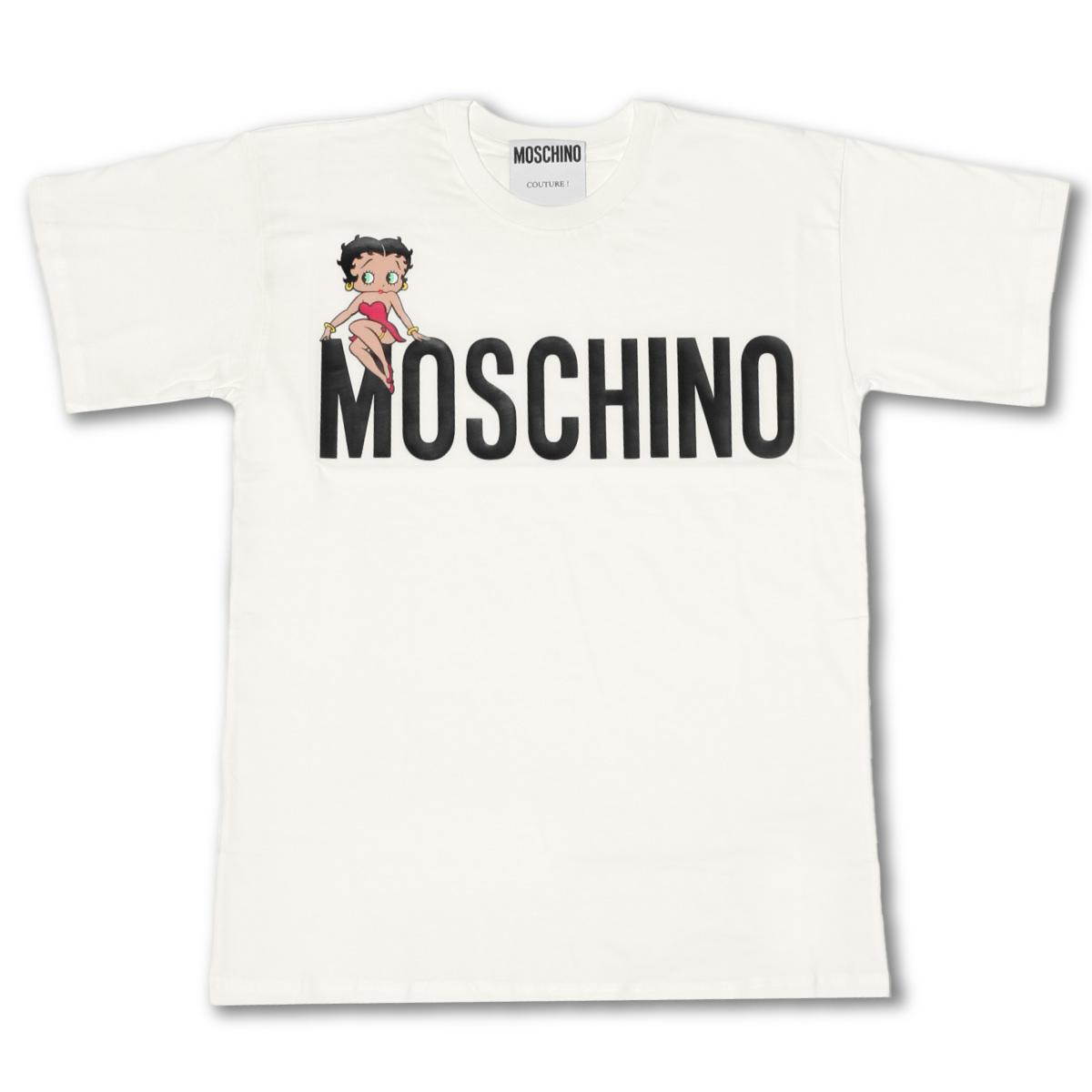 モスキーノ MOSCHINO Tシャツ レディース 0704 0540 1001 半袖Tシャツ WHITE ホワイト
