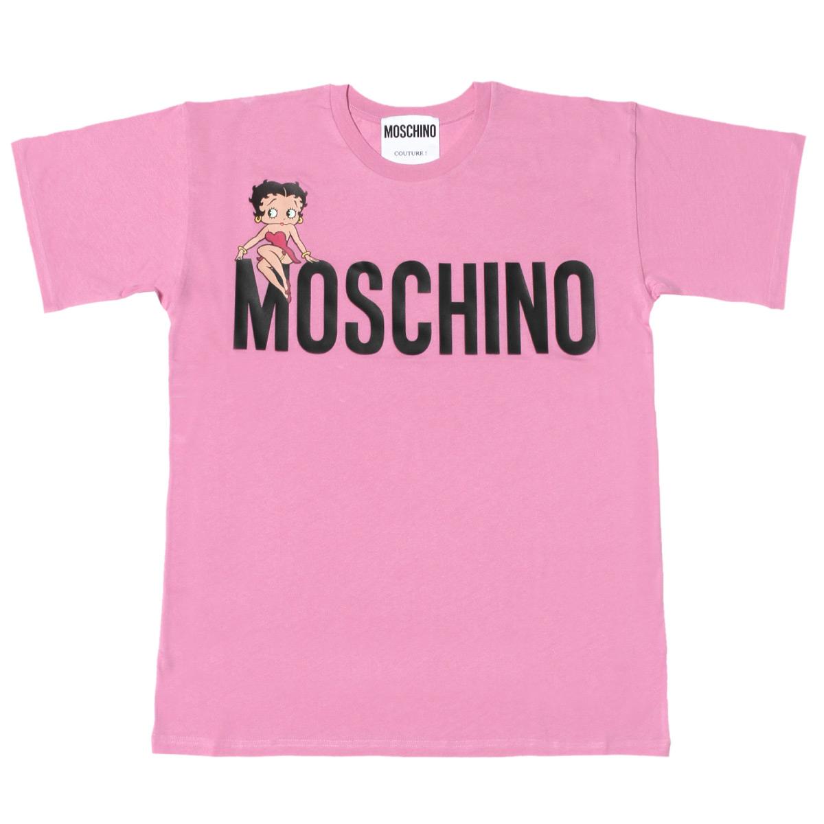 モスキーノ MOSCHINO Tシャツ レディース 0704 0540 1208 半袖Tシャツ PINK ピンク