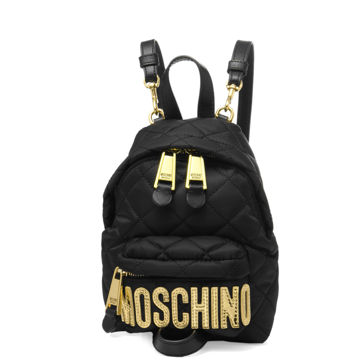 ce59797653 7609 Moschino MOSCHINO bag lady 8201 2555 shoulders backpack BLACK black  belonging to ...
