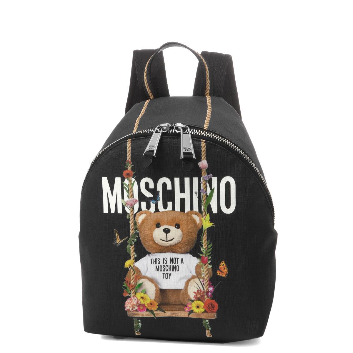 モスキーノ MOSCHINO バッグ レディース 7636 8210 2555 バックパック BLACK ブラック