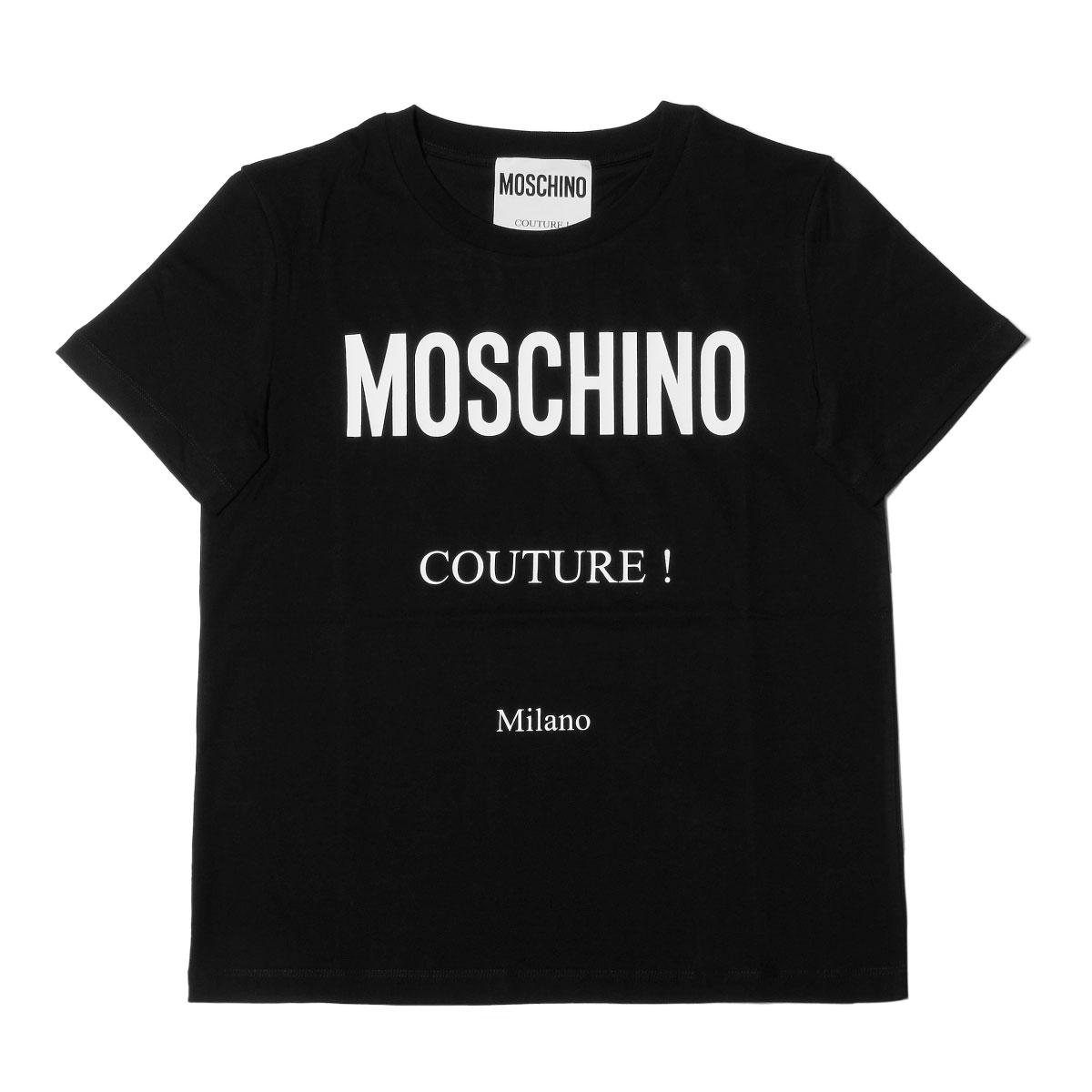 モスキーノ MOSCHINO Tシャツ レディース 0706 5540 1555 半袖Tシャツ BLACK ブラック