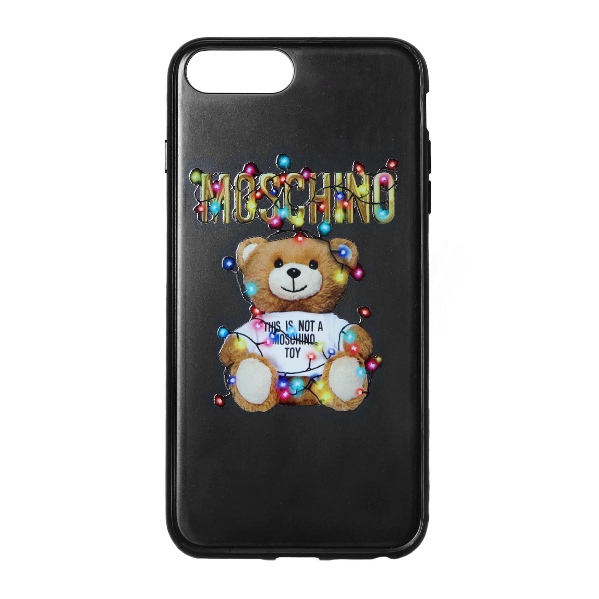 save off b17fd d552a Moschino MOSCHINO iPhone6Plus/6sPlus/7Plus/8Plus case Lady's 7978 8351 1555  BLACK black