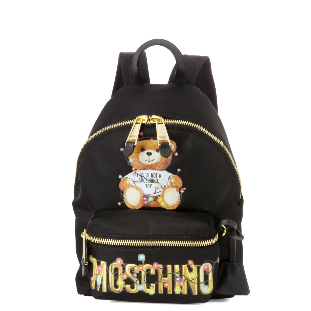 モスキーノ MOSCHINO バッグ レディース 7699 8260 1555 バックパック BLACK ブラック
