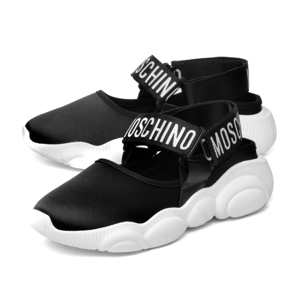 pretty nice 813af a0c5b MOSCHINO Moschino shoes Lady's MA15103G17ML0000 sneakers TEDDY RUN Teddy  orchid NERO black
