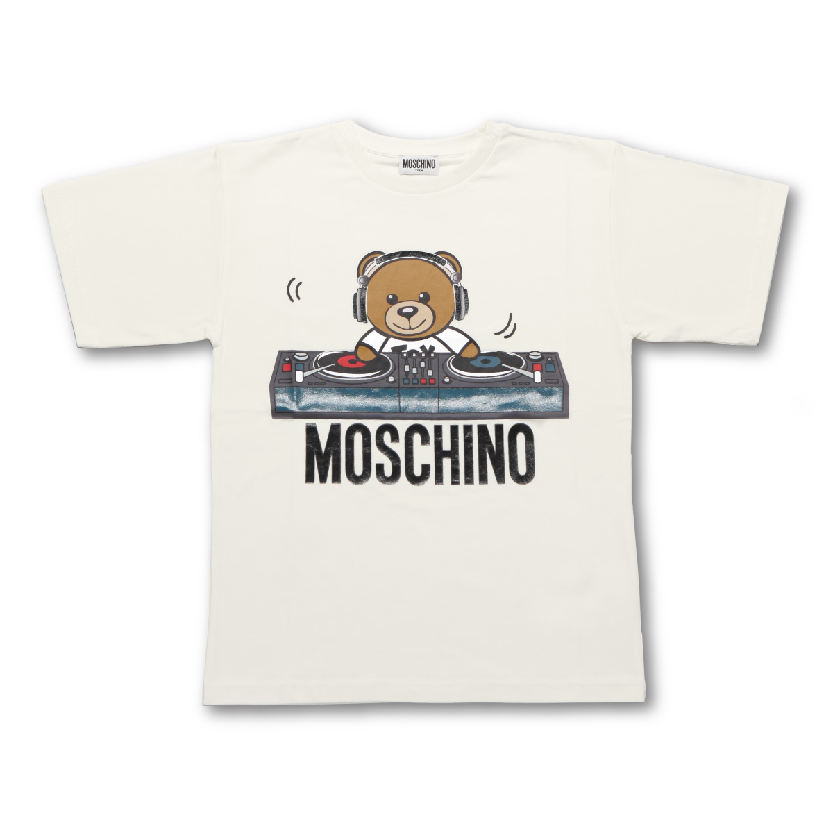 モスキーノ MOSCHINO Tシャツ キッズ ボーイズ HRM029 LBA12 10063 半袖Tシャツ WHITE ホワイト 6A-8A