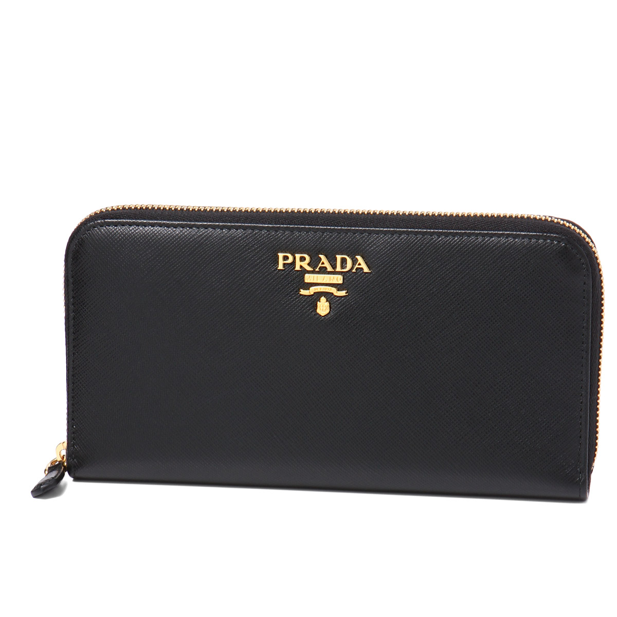 9359b8cb55e importshopdouble  PRADA Prada zip around wallet NERO black